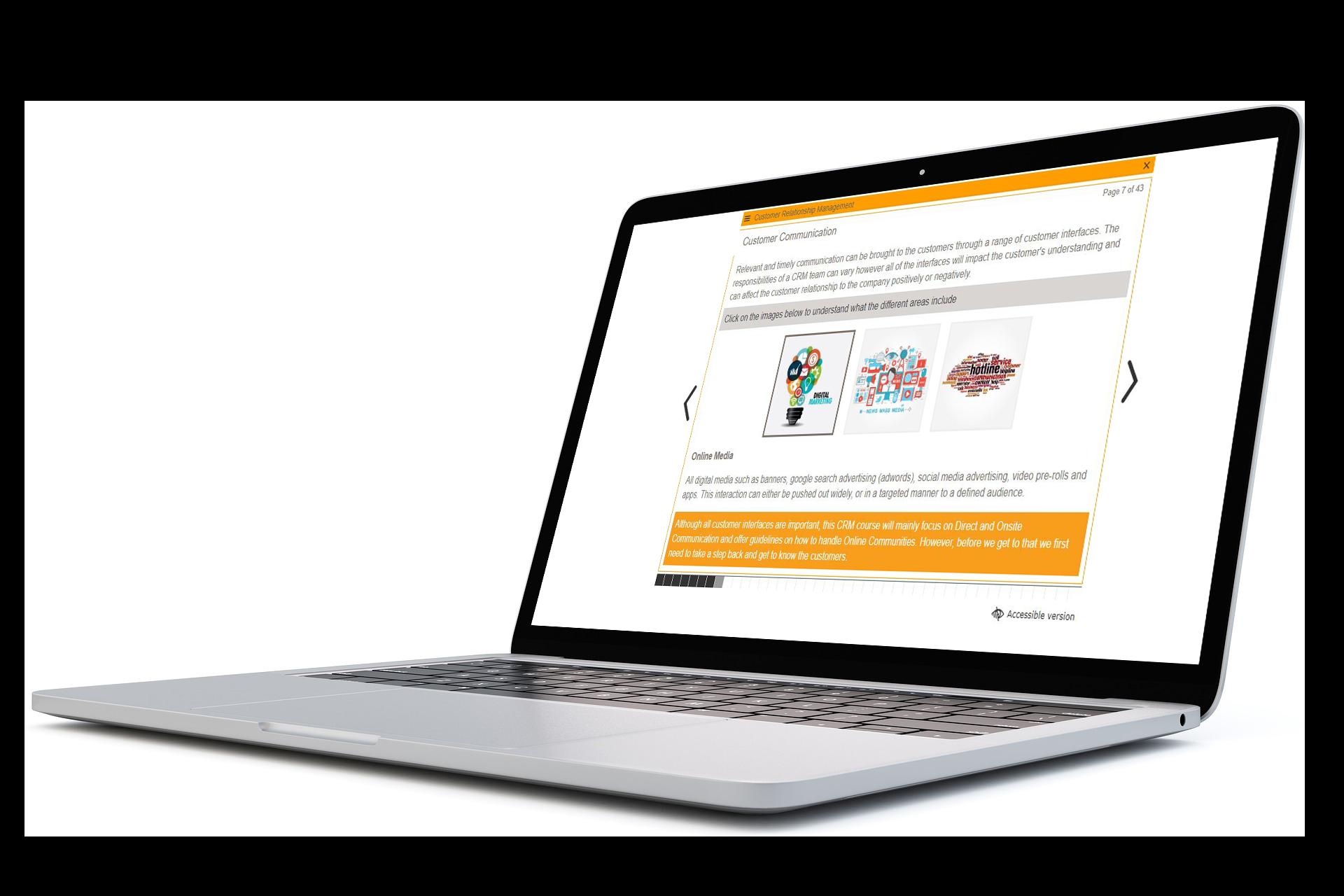 iGaming Academy eLearning Laptop